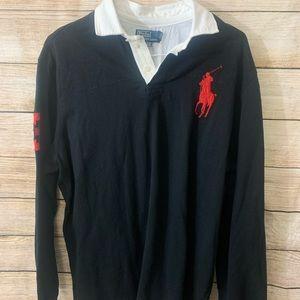 Vintage Ralph Lauren Black Polo Shirt Long Sleeve